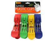 Bulk Buys HT641-96 4-1/2 x 1-1/8 Jumbo Plastic Clips - Pack of 96