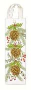 Alices Cottage AC25327 Holiday Pinecones Wine Caddy