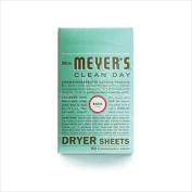 Mrs. MeyerS Dryer Sheets - Basil - 80 Sheets