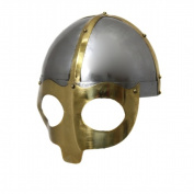 EcWorld Enterprises 8880627 Antique Replica Norse Viking Mask Warrior Battle Armour Helmet