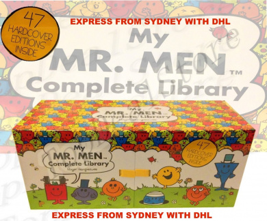 EXPRESS FROM SYDNEY My Complete Library Mr Men 47 Books Complete Box Set Story Collection Hard Cover WITH DHL OR FEDEX FROM SYDNEY