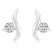 Kate Bissett E20128R-S01 Twisting Solitaire CZ Earrings