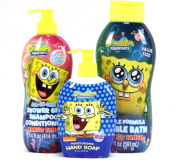 Nickelodeon SpongeBob Square Pants Bath Set Bundle