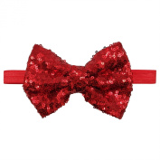Rarelove Baby Girls Headband Red Bowknot Sequin Hair Bands Accessories