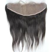 Brazilian Straight Hair Full Lace Frontal Closure 33cm x 10cm Free part 100% Unprocessed Virgin Human Hair Top Lace Front Closures 30cm With Baby Hair Bleached Knots Natural Colour