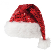 Deluxe Sequin Santa Hat Outfit Accessory for Christmas Nativity Fancy Dress