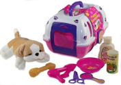 Vet Play Set, Pet Puppy Carrier, Soft Plush Dog And Grooming Toys