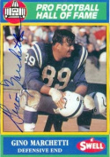 Autograph Warehouse 20104 Gino Marchetti Autographed Football Card Baltimore Colts 1990 Swell Legends No. 94