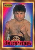 Autograph Warehouse 84431 Julio Cesar Vasquez Card Boxing 1996 Ringside No .32
