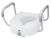 Toilet Seat E-Z Lock w/Arms Adjustable Handle Width