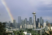 Panoramic Images PPI74970L Rainbow Seattle WA Poster Print by Panoramic Images - 36 x 12