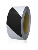 DIY Industries 25-600-2100-665 Floormark - Black and Clear Stripe 5.1cm . x 30m
