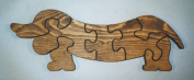 THE PUZZLE-MAN TOYS W-1135 Wooden Educational Jig Saw Puzzle - Dachshund