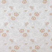 Designer Fabrics D123 140cm . Wide Silver White And Mahogany Red Paisley Floral Brocade Upholstery Fabric