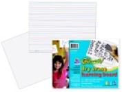 Go Write 28cm x 21cm . Ruled Learning Dry Erase Board Pack - 5