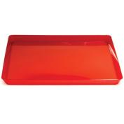 Trendware 173419 29cm . Translucent Red Square Tray - Case of 6