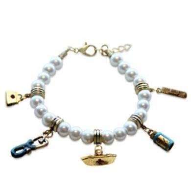 Whimsical Gifts 1400G-BR Nurse Charm Bracelet In Gold