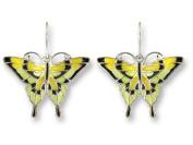 Zarah 21-06-Z1 Tiger Swallowtail Silver Plate Earrings