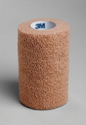 3M 1584 10cm . x 5 yard Coban Self-Adherent Wraps Latex Non-Sterile Tan 18 Rolls Per Case