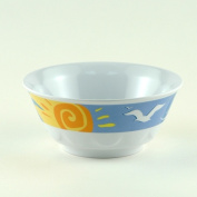 Galleyware AG 1485-6 Decorated Melamine Non-skid 590ml Soup & amp; Cereal Bowl - Set of 6