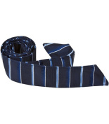 Matching Tie Guy 2883 B11 HT - 110cm . Child Matching Hair Tie - Navy With Stripes