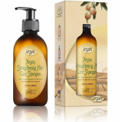 Hair Strengthening Argan Shampoo - Exclusive Herbal Oils Blend - Cleanses, Repairs, Strengthens & Promotes Healthy Growth - Daily Moroccan Sulphate & Paraben Free Shampoo 300ml