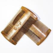 MooKiYi Hair Comb / Beard Comb | Fine Tooth Handmade Green Sandalwood No Static Fine Pocket Comb Beard and Moustache Comb Brush