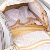 Toiletries Bathroom Travel Bag Organiser for Women Makeup or Men Shaving Kit with Hanging Grey