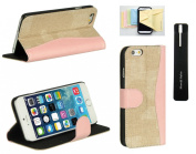 Iphone 6 Plus (14cm ) Wallet Purse [Iphone 6 Plus] Protective Flip Phone Case with Stand and Card Holder, Momiji® Cleaning Cloth, Stylus Pen