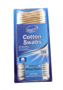 Amoray Wood Stick Cotton Swabs 1 Box - 350 Count