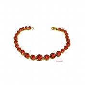Fine Jewellery Vault UBBRBK7205Y14GR January Birthstone Garnet Graduated Bead Necklace in 14K Yellow Gold 15 CT TGW Wedding Gift