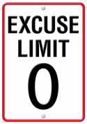TREND ENTERPRISES INC. T-A67259 EXCUSE LIMIT 0 LP LARGE POSTERS