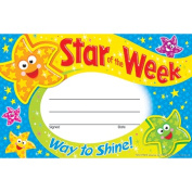 Trend Enterprises Inc. T-81041 Star Of The Week Way To Shine Recognition Awards