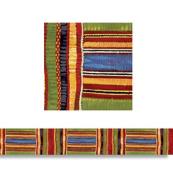 Trend Enterprises T-85092 Kente Cloth Borders Straight Edge- 11 per Pack 2.75 X 35.75 Total