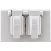 Cooper Wiring S1962W-SP Duplex Receptacle Outlet Cover