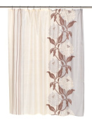 Carnation Home Fashions FSC-CH-13 Chelsea Fabric Shower Curtain in Chocolate