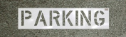 CH Hanson 70251 Parking 30cm X 23cm . Stencil