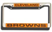 Caseys Distributing 9474640244 Cleveland Browns Laser Cut Chrome Licence Plate Frame