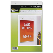 Glolite Nudell Llc 38017Z Clear Plastic Sign Holder Wall Mount 11 x 17