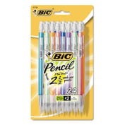 Bic Corporation MPLP241 Mechanical Pencils with Colourful Barrels 0.7 mm Assorted 24/Pk