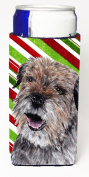 Carolines Treasures SC9613MUK Border Terrier Candy Cane Christmas Michelob Ultra bottle sleeves For Slim Cans - 350ml