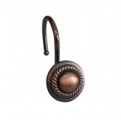 Elegant Home Fashions HK40138 Shower Hooks - Round With Rope - Oil Rubbed Bronze