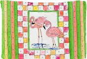 Carolines Treasures 8077PILLOWCASE 50cm x 80cm . Bird - Flamingo Moisture Wicking Fabric Standard Pillowcase