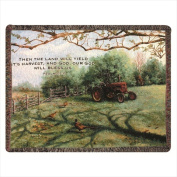 Manual Woodworkers and Weavers ATPHDV Pheasant Day Tapestry Throw Blanket Fashionable Jacquard Woven 150cm X 130cm .