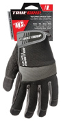 Big Time Products 9823-23 Work Master High-Performance Work Gloves - Large Black & Grey Microfiber Suede