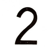 Montague Metal Products THN-2 25cm . Textured Modern Font Individual House Number 2