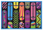 LA Rug Fun Rugs FT-71 1929 Gnarly Boards Rug