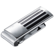Visol VMC742 Armand Black Lacquer Stainless Steel Engravable Money Clip