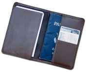 Dacasso a3442 Chocolate Brown Leather Passport Holder