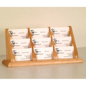 Wooden Mallet BCC3-9LO 9 Pocket Countertop Business Card Holder in Light Oak